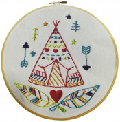 Embroidery Kit for beginners, Gift Set, Summer camp Design