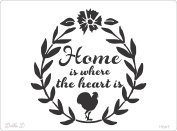 Home Is Where The Heart Is Stencil Mylar For Signs, Pillows And More