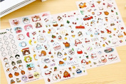 ONOR-Tech 6 Sheets Lovely Cute Adorable Decorative Adhesive Sticker Tape / Kids Craft Scrapbooking Sticker Set for Diary, Album, Laptop, Cellphone, Journals (Style-1
