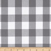 Kaufman 2.5cm Carolina Gingham Grey Fabric By The Yard