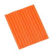 GlueSticksDirect Translucent Orange Coloured Glue Sticks mini X 10cm 12 Sticks