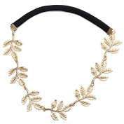 Hair Band Gold Alloy Branch Leaves Headbands Elastic Hair Accessories Jewellery by BinStore