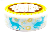 Decorative Tape Washi Masking Tape Scrapbooking DIY Crafts Gift Wrapping Cute Cat Type B 1.5cm ×800cm