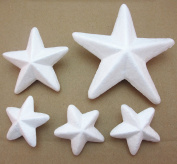 Dandan DIY 30pcs Mix Lots Assorted Sizes Smoothfoam Star Shaped Foam Craft Making Foam Ball Wedding Decor Diy Supply