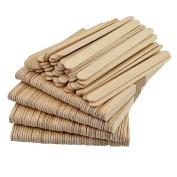 50Pcs Wooden Craft Sticks - Wooden Ice Cream Sticks Treat Sticks Freezer Pop Sticks Popsicle Sticks