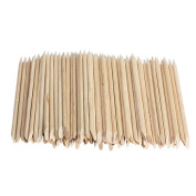 Jocestyle 100pcs Nail Art Wood Sticks Cuticle Pusher Remover for Manicures Pedicure Tool