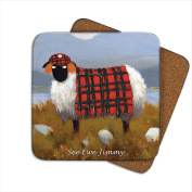 See Ewe Jimmy Coaster by Thomas Joseph - Funny Sheep