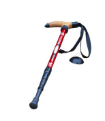 KRY T-Shaped Handle Retractable Aviation Aluminium Alloy Alpenstock Adjustable Telescopic Pole Anti Shock Walking Hiking Stick