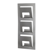 Ikea Spontan Magazine Rack Steel with 3 Compartments 33 x 9 x 78 (W x D x H) Wall Mount Silver