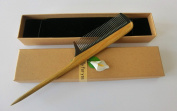 Rat Tail Comb,New Star Anti-Static Green Sandalwood Comb Fine-tooth Comb with Thin and Long Handle S11