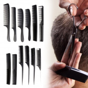 Barber Cutting Comb, 8PCS/12PCS Professional Salon Hairdressing Styling Hairbrushes Tools Set