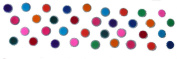 3 Packs- 100 Bindis Mix size Packs Silver Based Bindi Round Dots Multicoloured Polka dots