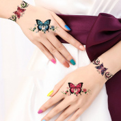 TAFLY Butterfly Bracelets Hand & Wrist & Arm Tattoos Fake Butterfly Temporary Tattoos Transfer Body Art Tattoos for Girls and Women 5 Sheets
