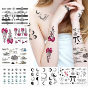 6 Pack Female Temporary Tattoos, Sexy Finger, Shoulder, Neck, Arm Tattoo, Christmas Tattoo