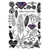 Gracefulvara Tattoo Stickers for Maverick Womens Teens Boys Girls Metallic Tattooing