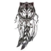 Gracefulvara Wolf Tattoo Stickers for Maverick Teens Boys Girls Metallic Tattooing