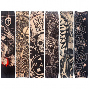 Yariew 6pcs Temporary Tattoo Sleeves, 6pcs Set Arts Temporary Fake Slip On Tattoo Arm Sleeves Kit Style 3