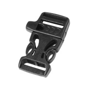 10pcs 1.9cm Emergency Side Release Whistle Buckles For Paracord Bracelet Black FLC007-A