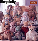 Simplicity 8418 - Sewing Pattern for 18, 20 and 60cm Bears with Overalls and Collars