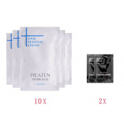 PILATEN 10x Individually Packaged Unisex Hair Removal Cream with Free 2x nose blackhead black mask