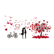 Winhappyhome Love Tree Wall Stickers for Bedroom Living Room Coffee Shop Background Removable Decor Decals