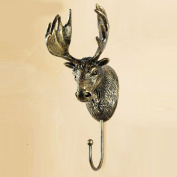 9*9*21cm European Style Hooks Retro Elk Wall Decorated Wall Hanging