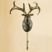 11*10.5*20.5cm European-style Creative Hooks Retro Deer Wall Decorated Bedroom Wall Hanging