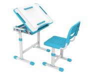 ProHT Height Adjustable Children Desk & Chair Sets (05494A), Kids Interactive Work Station w/ Drawer Storage, Tilting Desktop & Paper Roll Holder, Ergonomic Design for Kids, Boys & Girls – Blue