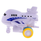 MonkeyJack Kids Cartoon Aeroplane Friction Toys Toys Developmental Baby Toys Blue