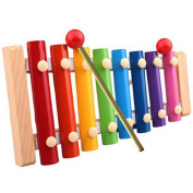 Foutou Toys Xylophone Baby Kid Musical Toys Wisdom Development Wooden Percussion Instrument