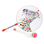 Lollipop Drum with Mallet , Glonova 15cm Hand Drum with Candy Drumstick Rhythm Instruments Toys for Kids Baby
