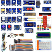 Adeept 24 Modules Sensor Kit for Raspberry Pi 3,2 B/B+, DS18b20, Robot Projects Starter Kit with Tutorials, with C and Python Code, 95 Pages PDF Guidebook