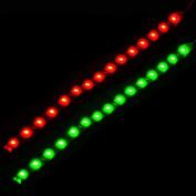 beler 2pcs 12V Waterproof Car Boat Marine Red Green Navigation Lights Lamps LED Lighting Strip