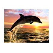Awakingdemi Dolphins 5D Diamond DIY Painting Craft Kit Home Wall Decor