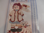 "Raggedy Ann & Andy Counted Cross Stitch Kit ""Baseball Fun"""