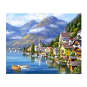 Awakingdemi DIY Diamond Painting,Beautiful Country 5D Diamond DIY Painting Home Decor Craft