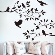 Vibola Removable Tree & Bird Wall Sticker Vinyl Art Decal Mural Home Room DIY Decor