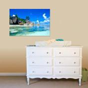 Vibola 3D Wallpaper Bedroom Living Mural Beach Sea Island Landscape Modern Wall Sticker