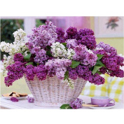 Fabal 5D Lavender DIY Diamond Embroidery Painting Flower Cross Stitch Home Decor Craft
