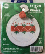 Lazy Daisy - Stitch N Frame Ornament - Crazy Quilt Stitching Kit #629