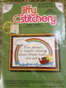 Jiffy Stitchery Plan Ahead Vintage Crewel Embroidery Kit #637