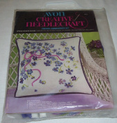 Avon Creative Needlecraft Crewel Embroidery Kit - Spring Violets C