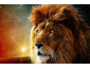 Fipart DIY diamond painting cross stitch craft kit. Wall stickers for living room decoration. Lion
