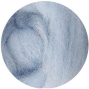 NZ Corriedale Wool Roving for Felting - 30ml Ice Blue