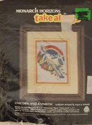 "Monarch Horizons Take Along - ""Unicorn & Rainbow"" - Needlepoint Kit MTA 25"