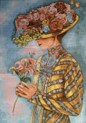 "Needlepoint Kit ""Lady"" 13.8""X19.7"" (35x50cm.) printed canvas 508"