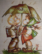 "Needlepoint Kit ""Hummel"" 5.9""x7.8"" 15x20cm printed canvas cod.1191"