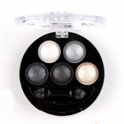 HugeStore 5 Colours Glitter Eyeshadow Eye Shadow Powder Palette Shimmer Metallic Silver