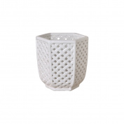 Emissary Home & Garden Trellis Container, 20cm H, White