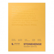 Stonehenge Pad Warm White 9X12 15 Sheets